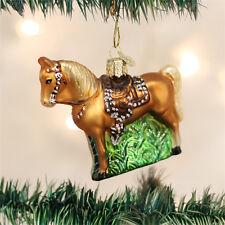Western Horse Glass Ornament