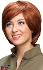 Ladies Ginger Auburn Short Pixie Cut Cosplay Elf Wig Fancy Dress Costume Outfit
