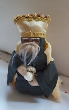 """9"""" NATIVITY WISEMAN WITH CROWN & gift Christmas Xmas holiday decoration new"""