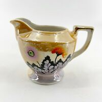 """Vintage Lusterware Creamer Pitcher Japanese Made in Japan Hand Painted 4"""" X 5"""""""