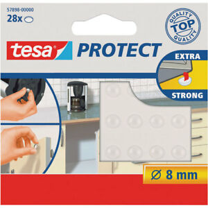 tesa® 57898 Protect Extra Strong Transparent Rubber Feet 8mm Pack of 28