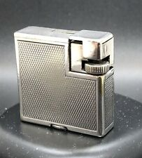 VINTAGE SILVER PLATE DUNHILL SAVORY/SQUAREBOY FRENCH PETROL POCKET LIGHTER C1936