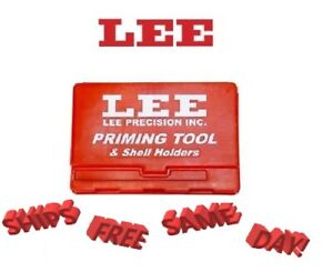Lee Priming Tool & Shell Holders Case-RED!! NEW!!!