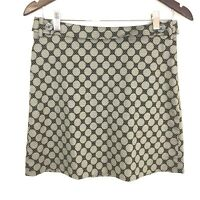The Limited Silver Black Polka Dot A-Line Skirt Above Knee Length Women's Size 4