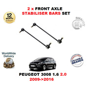 FOR PEUGEOT 3008 1.6 2.0 2009->2016 2 X FRONT AXLE STABILISER DROP LINK BARS SET