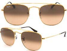 Ray-Ban Damen Herren Sonnenbrillen RB3557 9001/A5 Gr 51 gold quadratisch F I5 H