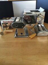 Mia Marcato Atlas Pasta Noodle Maker Machine w/Marcato Raviolissima Attachment