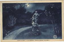 """54 - cpa - NANCY la nuit - A la pépinière : statue du groupe """"On veille"""""""