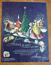 1950 Avon Ad Avon's Gift Window is Coming to your Home Christmas Theme