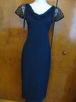 Elie Tahari Sheena Women's Navy Evening Dress SZ 4, 6, 10 Retail Value $398  NWT
