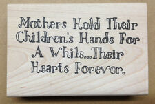 Mounted Rubber Stamps, Sentiments, Mothers Day, Sayings, Mom, Children, Baby