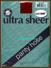 """ultra sheer panty hose pantyhose stocking Queen SIZE RED    size 40"""" - 54 """" hip."""