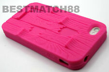 for iphone 4 4s sturdy rugged wave design tpu soft case cover 5 colors