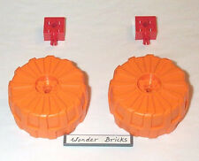 Lego Wheels Hard Plastic Large Orange Space Vehicle 7697
