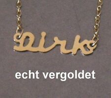 Gold Plated Name New Classy Necklace Dirk Real