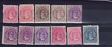 Cook Islands Victoria early stamps unchecked L/ hinged,multi-colour,multiple.