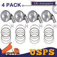 4* Pistons Assembly Set Φ21mm For VW GTI Passat Tiguan Audi TT A3 A4 Q5 2.0L USA