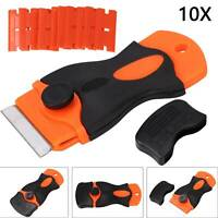 10PCS Plastic Edge Blades Razor Scraper for Auto Film Paint Glue Remover Pro