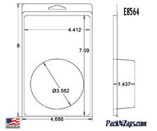 """E8564: 300 - 8""""H x 4.7""""W x 1.4""""D Clamshell Packaging Clear Plastic Blister Pack"""