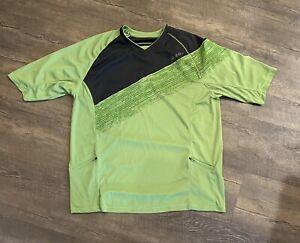 Zoic Men's Mountain Bike Jersey XXL Green Front Zip Pockets Cycling