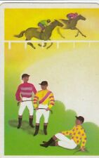 VINTAGE SWAP PLAYING CARD - 1 SINGLE - HORSE RACING - #1