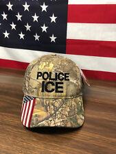 Police Ice American Flag Realtree Xtra Hat Keep America Great MAGA USA Camo Cap