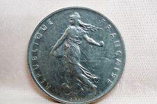 """1960 one Franc Semeuse (sower) 5th Republic small """"o"""" coin COMPARE"""