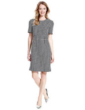 M&S Collection Ladies Lined Summer Shift Dress Size 10 NEW Black White Polka Dot