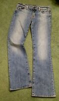 Lucky Brand Jeans womens 6/28 Sundown Jean blue denim distressed w 32 L 32