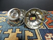 Nos Cutelarias Herdmar Portugal Insulated 18/10 Stainless Footed Ice Cream Dish