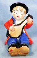 Little Boy Playing Banjo Mandolin Figurine Made Japan Ceramic Vintage Adorable