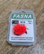 """Fnf block jelly """"magma"""" blobs on fasna barbless blob hooks, set of 6"""