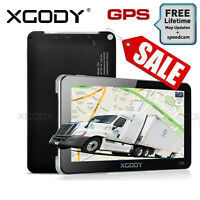 "XGODY 7"" Truck & Car GPS SAT NAV Navigation System Navigator Free AU New Map"