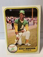 1981 Fleer Rickey Henderson #574 Oakland A's 2nd Year, HOF Nice Baseball Card⚾️