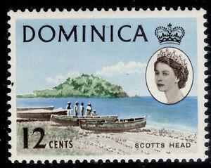 DOMINICA QEII SG170, 12c green, blue & blackish brown, NH MINT.