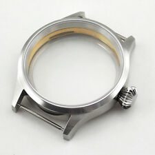 Sapphire Glass 43mm Corgeut Sterile Steel Case Fit ST36 ETA 6497 6498 Wristwatch