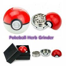 Fashion 55mm Red Pokeball Pokemon Go Tobacco Herb Spice Alloy Grinder 3 Layer