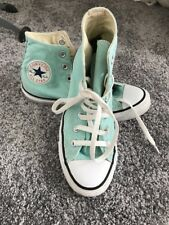 Mint Light Green Converse All Star Trainers Size 5