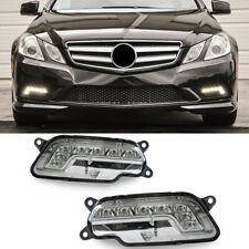 2x Front LED Daytime Running Fog Light Fit For 2010-2013 Mercedes W212 E350 E550