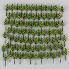 100 X Model Pine Trees Deep Green for N Z Scale Building Street Layout 38mm