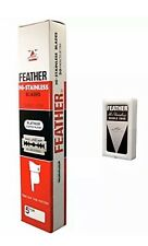 100 Feather Safety Razor Blades NEW Hi Stainless Steel, Double Edge Japan