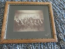 FRAMED PHOTO MEMBERS of A MASONIC LODGE FAITH HOPE & CHARITY  LATE 1800'S