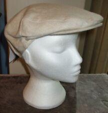 "Men's Failsworth 100% Irish Linen Flat Cap Natural Size 7"" (57cm)"