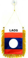 New Laos Mini Banner Flag For Car & Home Window Mirror Hanging 2 Sided