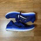 Nike Free RN Flyknit Blue Mens Running Shoes 831069-400 SZ 12