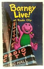 Barney Live Radio City Music Hall Magazine Vintage 1993 Concerts Restaurants Ads