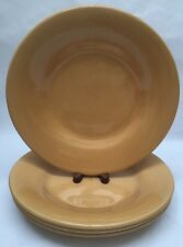 Pottery Barn Sausalito Amber/Gold Dinner Plates Set Of 4 Made In China
