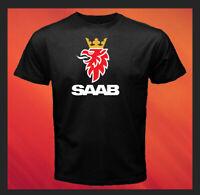 Saab Automobile AB SAAB Logo Car Company NEW Men's Black T-Shirt S M L XL 2XL