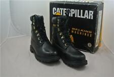CATERPILLAR BOOTS SIZE 7 UK SHOES CAT WORK BLACK LEATHER TRACK DIGGER
