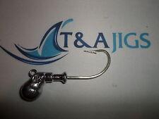 10 Octopus Jigs 4oz Jig Heads UNPAINTED 9/0 Hook Cobia Ling Cod T&A JIGS